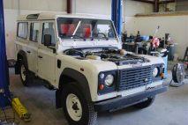 UK Export of Defender 110 300 Tdi to 4.6 V8 conversion